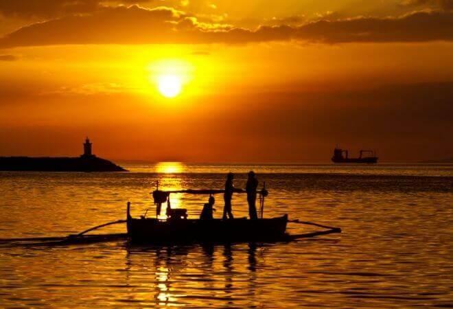 Sonnenuntergang an der Manila Bay